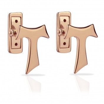 Humilis rose gold plated sterling silver SIGN Tau cufflinks