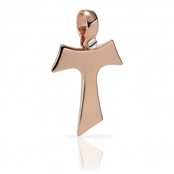 Humilis rose gold Tau cross