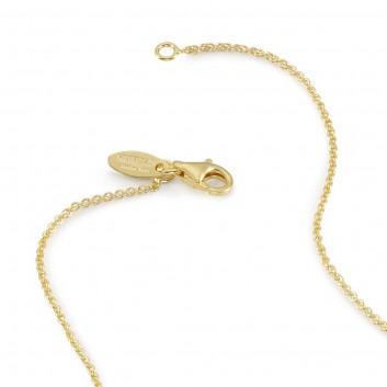 Humilis catena rolò in argento placcato oro giallo