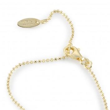 Humilis catena pallinata brillante in argento placcato oro giallo
