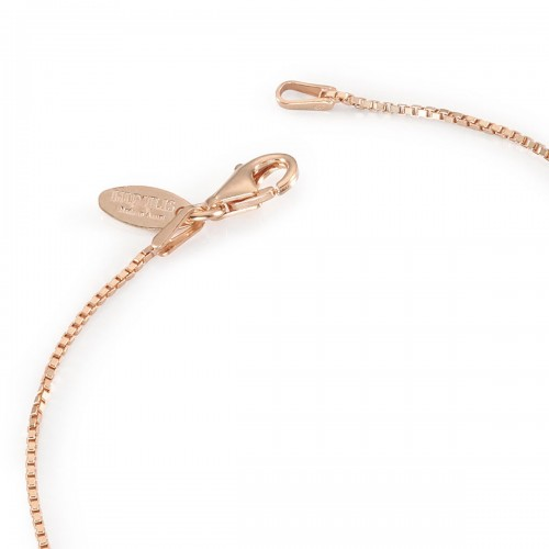 Humilis rose gold plated sterling silver box chain