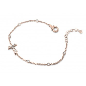 Humilis rose golden plated sterling silver bracelet with zirconia