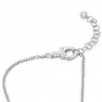 Humilis collana in argento con zirconi