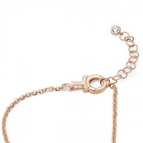 Humilis rose gold plated sterling silver necklaces with zirconia