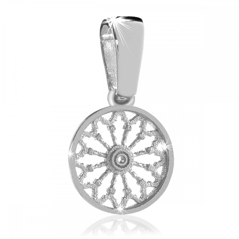 Rose windows of assisi sterling silver pendants sterling silver rose window pendant aloadofball Images