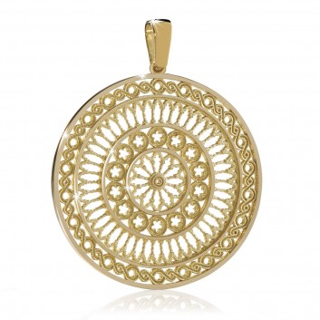 Assisi rose window jewels - gold charms