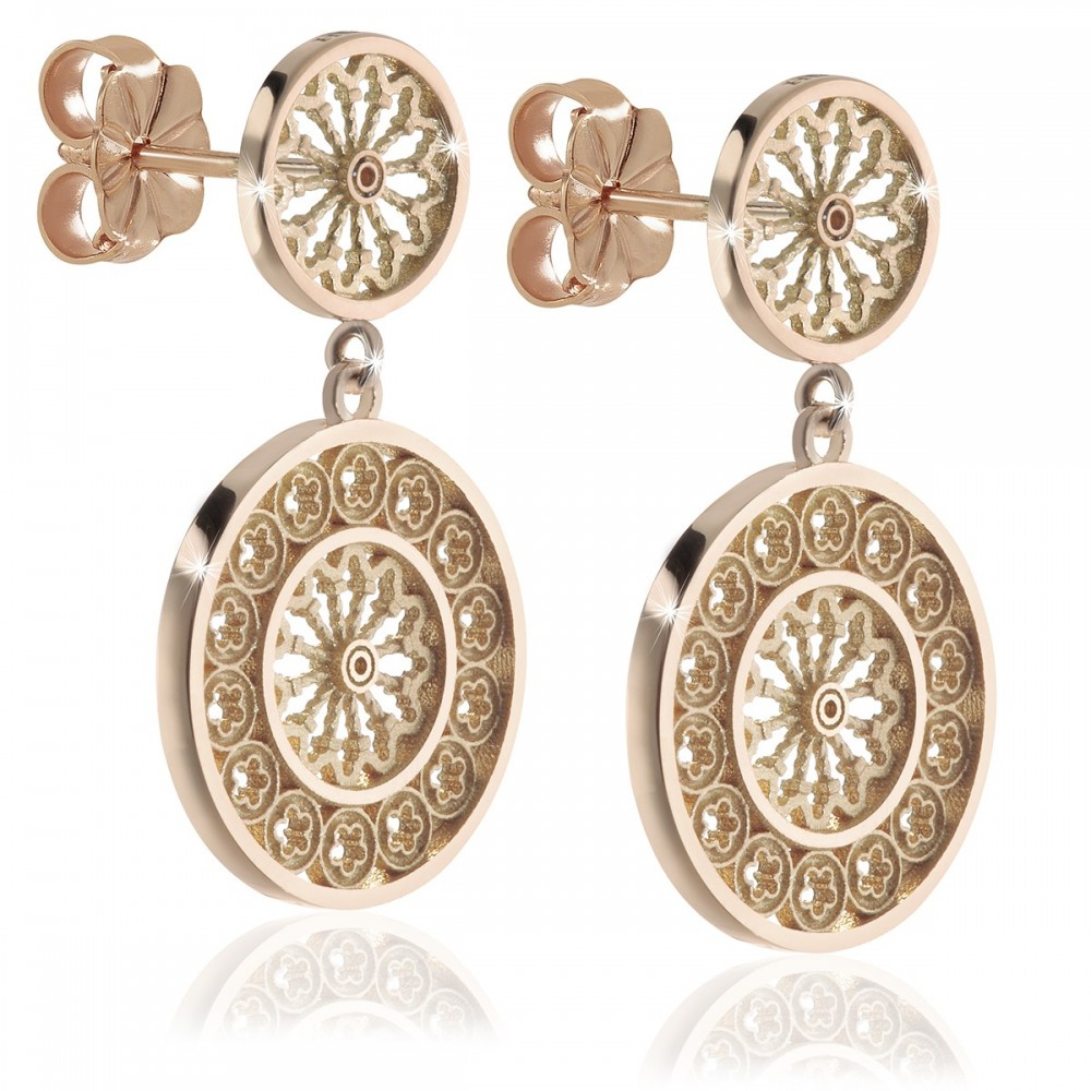 Sterling Silver Rose Gold-plated Earrings