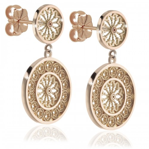 Assisi Rose window earrings - gold