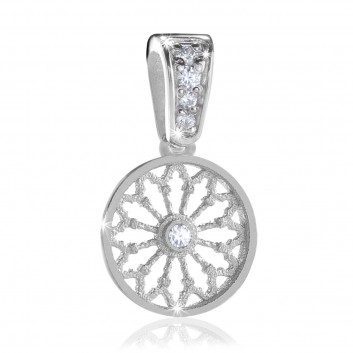 white gold AERE rose window jewel