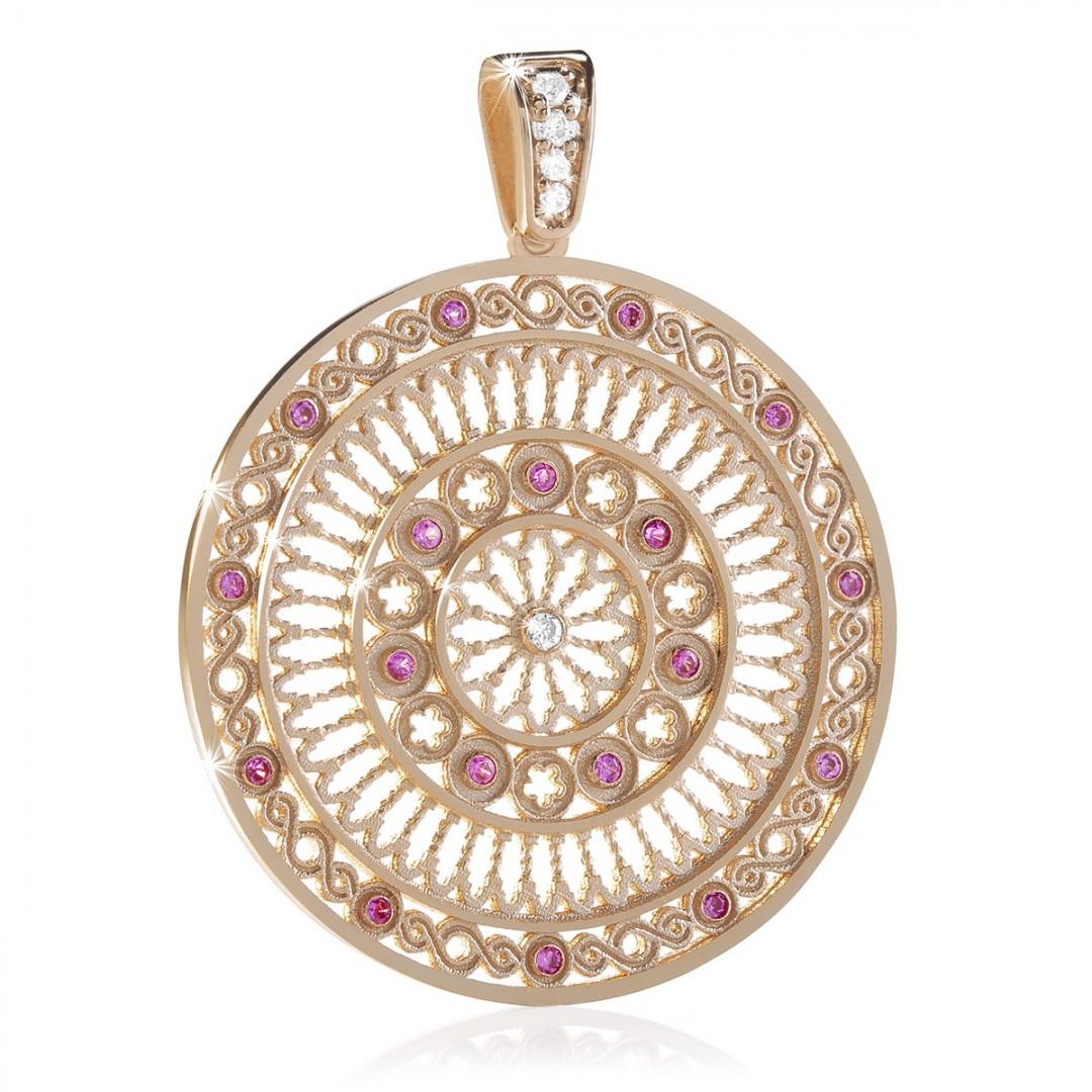 rose window pendant - Rose gold FOCU charm