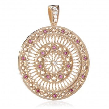 rose window pendant - Rose gold FOCU charm