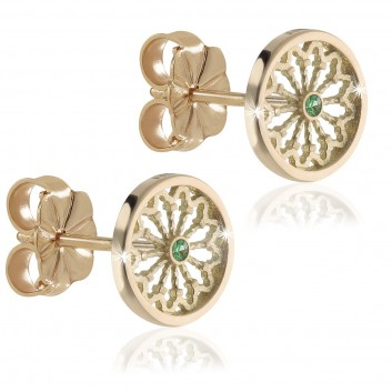 Assisi sterling silver rose window earrings