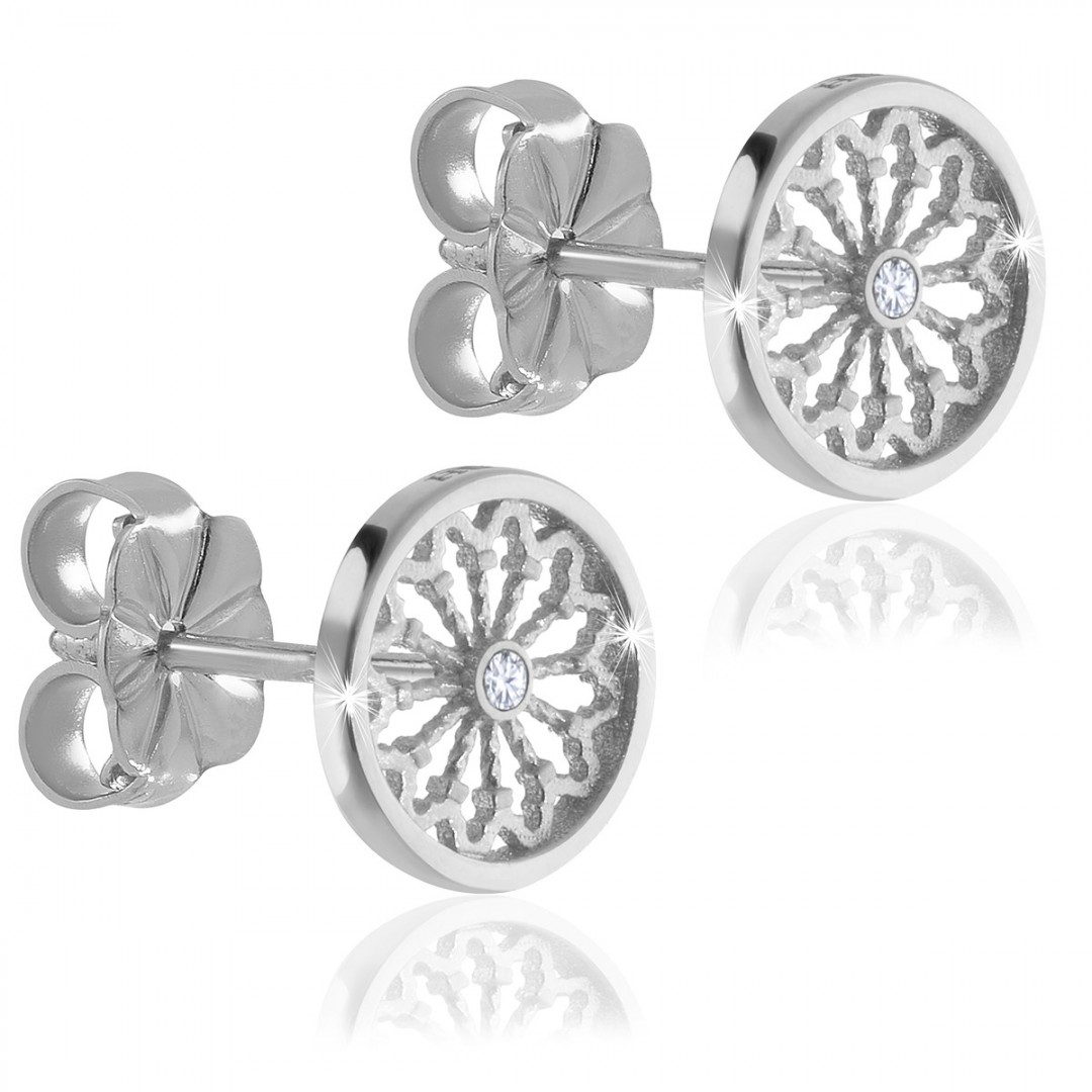 Orecchini rosoni AERE in argento