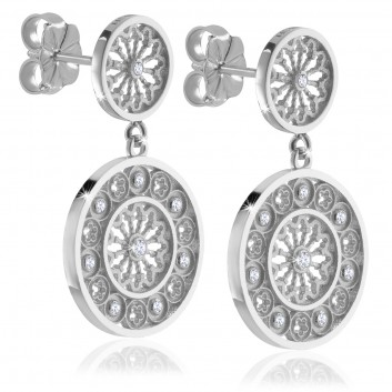 Rose window of Assisi - sterling silver AERE earrings