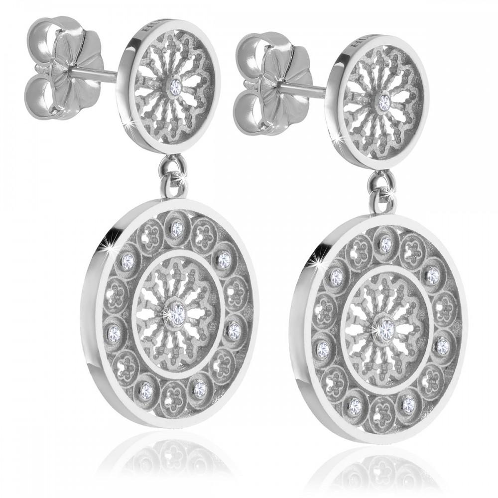 Rosoni Assisi orecchini AERE in argento