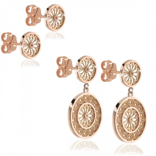 Gold earrings St. Francis' Chirch of Assisi