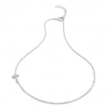 Humilis sterling silver necklaces with zirconia