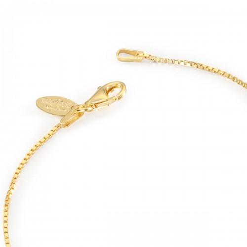 Humilis veneziana brillante in argento placcato oro giallo