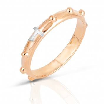 Humilis rose gold rosary ring