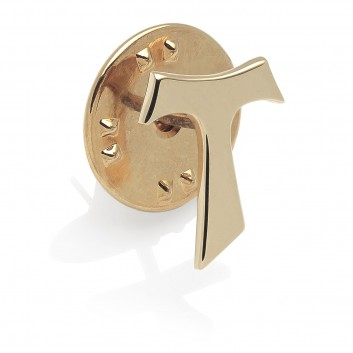 Humilis gold plated sterling silver SIGN Tau pin