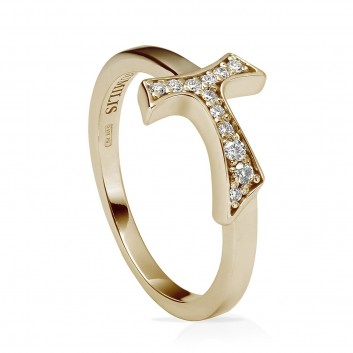 Humilis yellow gold sign ring