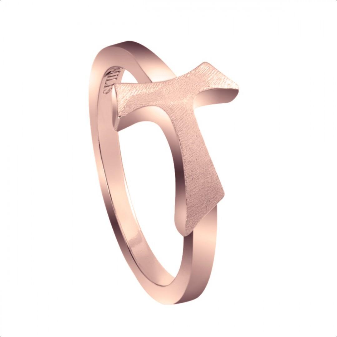 Humilis rose gold sign ring