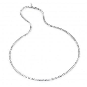 Humilis catena grumetta piatta in argento