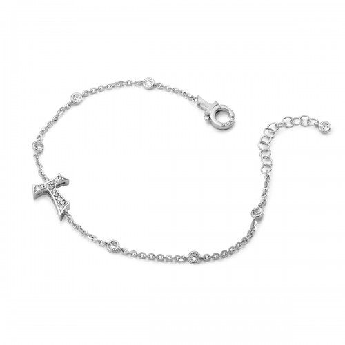 Humilis sterling silver bracelet with zirconia